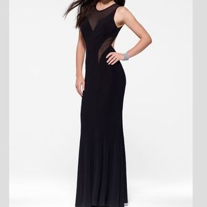Black Illusion Cut Out Gown